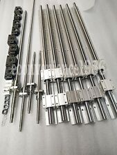 SBR16-300/1500/2000mm Guide &RM1605-300/1500/2000/2000mm Ballscrew&BF12/BK12 Kit