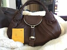 Auth ❤️FENDI Spy Bag❤️ Nappa Leather Chocolate Brown *Priced To Sell* EUC