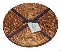 Artesa Natural Bamboo Rattan Round Placemats Tablemats or Serving Mats