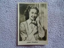 JEAN POWELL 1940's Real Photo  MINI Postcard - Singer Movie Star