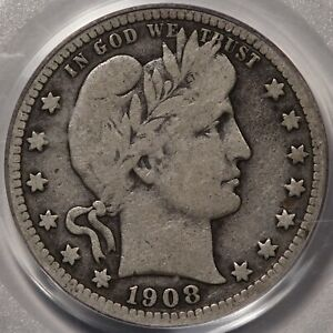 1908-S Barber Quarter PCGS & CAC VG-10. POP 1 at CAC and none lower!