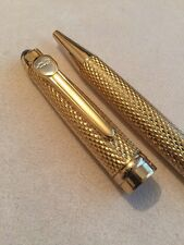 NEW JINHAO 163 CHISELLED GOLD LAQUE GT BALLPOINT PEN-BLUE INK-UK STOCK
