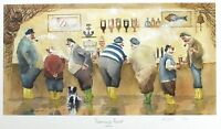 "DES BROPHY ""Fisherman's Friend"" fishing pub SGD LTD ED! SIZE:35cm x 57cm NEW"