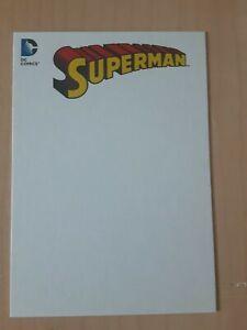DC Comics Justice League  3.5 x 5 BLANK COVER sketch card BT11 Superman