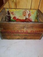 VINTAGE CANADA DRY GINGER ALE WOODEN CRATE BOX CASE 1953 w/ COCA COLA SIGN AD!!!