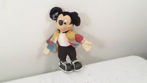 """Vintage 11"""" Soft Body Applause Mickey Mouse Toy Figure in Hawaiian Shirt"""