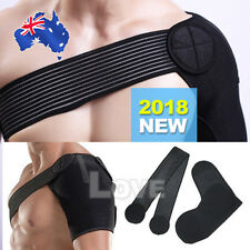 Shoulder Support Brace Adjustable Compression Strap Heat Patch Protection Sports