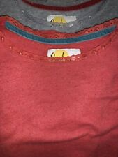 lot of 2 MINI BODEN girls pointelle l/s shirt sz 15-16Y