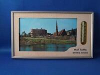 ADVERTISING THERMOMETER SIGN ADVERTISING MATTAWA ONTARIO CANADA CHURCH RIVER
