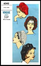 Vogue #6242 SNOOD Hat Cap Fabric Sewing Pattern Chemo Cancer Alopecia Hair Loss
