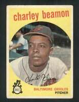 1959 Topps #192 Charley Beamon VG/VGEX RC Rookie Orioles 72200