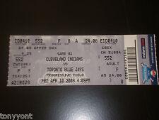 Cleveland Indians 2009 Opening Day Unused Ticket Stub