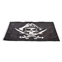Large Skull & Cross Crossbones Sabres Swords Jolly Roger Pirate Flags 3x5 PB