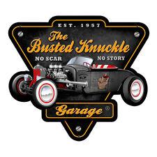 Busted Knuckle Garage Hot Rod V8 1957 Werkstatt Vintage Sign Blechschild Schild