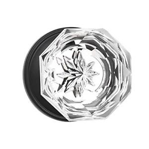 KNOBWELL 2 Pack Single Sided Crystal Door Knobs Individual Dummy Door Knob Matte