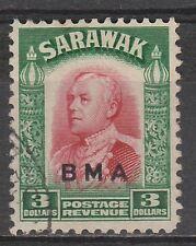 SARAWAK 1945 BMA OVERPRINTED RAJA $3