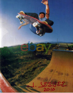 JASON JESSEE SIGNED SKATEBOARDING 8X10 PHOTO SANTA CRUZ reprint