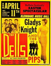 Gladys Knight & The Pips - Vintage USA Soul Music Concert Art Print Poster