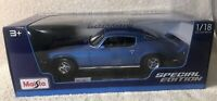 Maisto 1:18 Special Edition 1971 Chevrolet Camaro Blue 31131BL Diecast Model Car