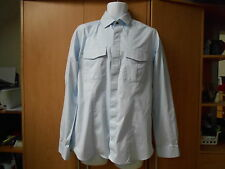Reiss Grey Long Sleeve Cotton Shirt W/Front Flap Pockets/Concealed Buttons - L