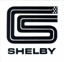 "Shelby CS 3.5"" square sticker / decal - Carroll Shelby American Racing DF0501"