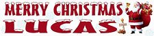 Personalised Christmas Banner - Father Christmas