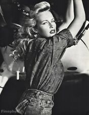 1987 Estelle Lefebure By Herb Ritts Fashion Model Actress Aviation Photo Art