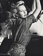 1987 Vintage ESTELLE LEFEBURE Fashion Model Actress Photo Art 16x20 ~ HERB RITTS