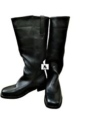 Stovepipe Boot - Sizes 5-15 - Black Leather - Highest Quality