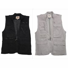 Humvee Photo Safari Vest Black, Khaki XS - XXXL