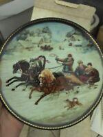 """A Winter Sleigh Ride"" Collector Plate"