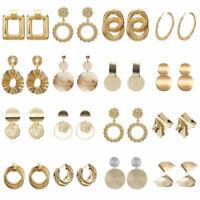 UK Womens Earrings Round Square Dangle Ear Studs  Geometry Drop Earrings Fashion