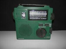Grundig FR-200 Emergency Short Wave AM FM Radio Hand Crank World Band LL Bean