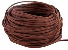 Navifoce Genuine Flat Suede Leather Cord Lace Beading Craft Thread String, 3mm,