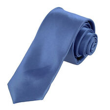 KT06 Royal Blue Solid Polyester Slim Tie Sale For Marriage Skinny Tie Dan Smith