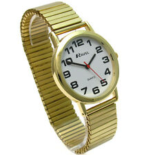 Gents Quartz Watch by Ravel with Expanding Bracelet Goldtone 03