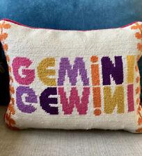 Jonathan Adler Gemini throw pillow, 2010 Zodiac collection RARE
