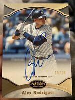 2020 Topps Tier One Alex Rodriguez Auto Autograph #10/10 Yankees MVP HOF