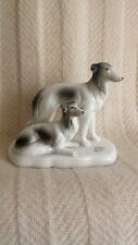 Vintage Midcentury ESD Japan Handpainted Porcelain Figurine Two Dogs