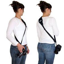 Neopren Anti Rutsch Kameragurt Schultergurt sling neck strap verstellbar Schwarz