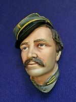 """Bossons """"Infantry Officer"""" American Civil War  Chalk Ware Character Head"""