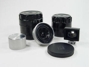 Ultra wide angle Russar MP-2 f/5.6 20 LTM39 M39. Full frame lens. And viewfinder