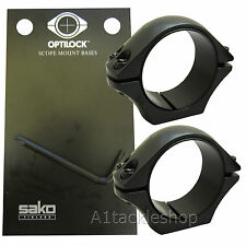 Optilock 30mm  Extra Low Scope Rings for Sako or Tikka Mounts