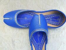 ROYAL BLUE INDIAN LADIES WEDDING PARTY  KHUSSA SHOE SIZE 6