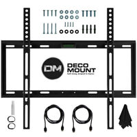 TV Wall Mount Kit for 45-90 Inch TV's with HDMI, Slim Flat Deco Mount
