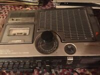 JVC 3060 VINTAGE Portable Boombox Radio Cassette Tape Recorder TV WORKS