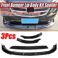 for Mercedes Vito 2015-2019 Carbon Fiber Look Front Bumper Lip Spoiler Splitter