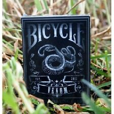VENOM BICYCLE DECK PLAYING CARDS BY USPCC DARK BLACK SNAKE