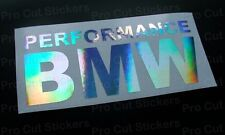 150mm (15cm) Performance BMW finestrino Adesivo paraurti OLOGRAMMA Cromo