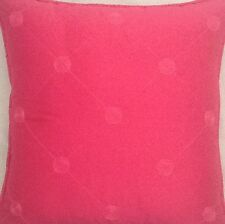 A 16 Inch Cushion Cover In Laura Ashley Lucille Cerise Silk Fabric